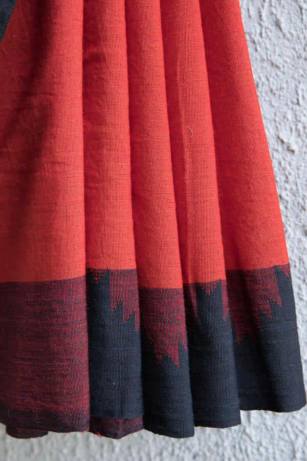 Rust Color Koraput Saree