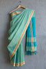 Rudraksh Border Green Saree