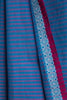 Peacock Blue Saree with Pink Border
