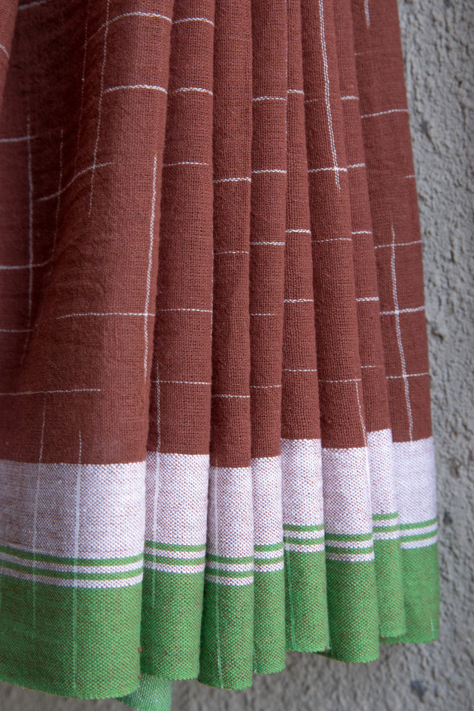 Brown Tie Dye Saree
