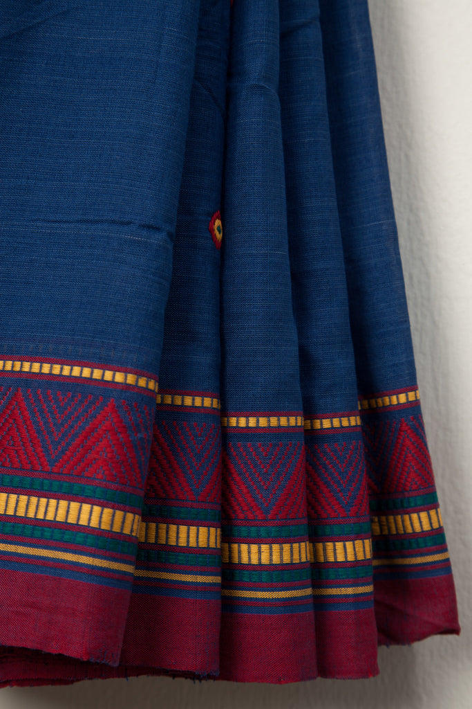 Dongria Kondh Blue Saree
