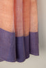 Peach Linen Saree with Purple Border