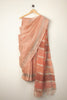 Peach Linen Saree
