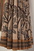 Kalamkari Castor Leaves Saree
