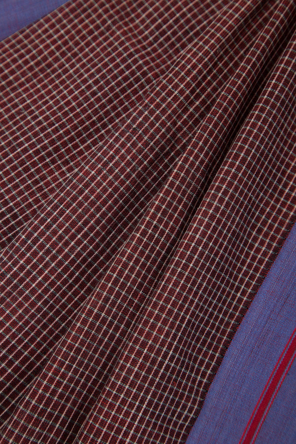 Maroon Checkered Pateda Anchu