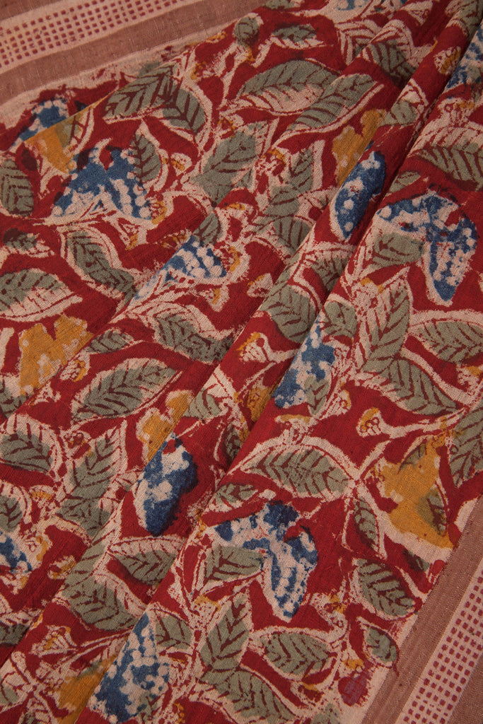 Butterflies Leaves Saree