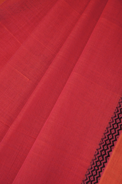 Pink Saree with Wave Border