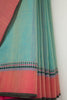 Sea Green Saree with Diamond Border