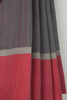 Grey Saree with Red Border