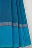 Sky Blue Saree with Wave Border