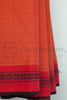 Orange Saree with Rudraksh Border