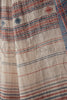 Bands of Blue and Red Kala Cotton Saree