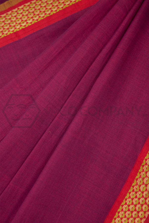 Hexagon Border Saree
