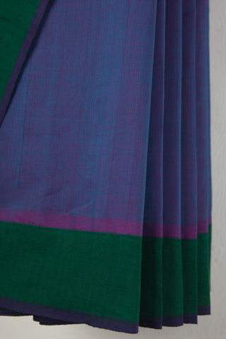 Blue Purple Mangalgiri Saree