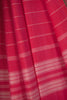 Red Pink Pinstripe Saree