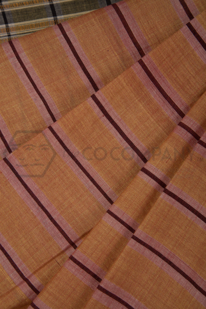 Yellow Maroon Irkal Saree