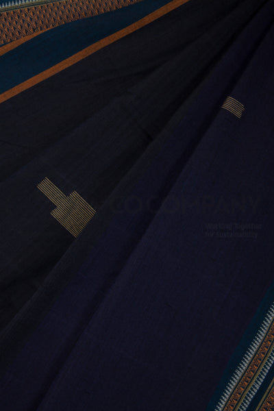 Deep Blue Irkal Saree with Jaamdani Motifs