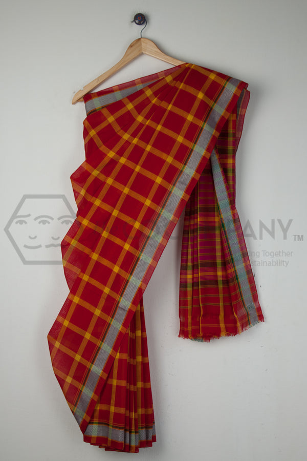 Big Checks Solapuri Saree