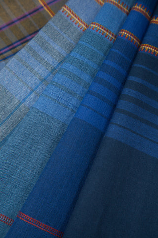 Shades of Blue Bhujodi Saree