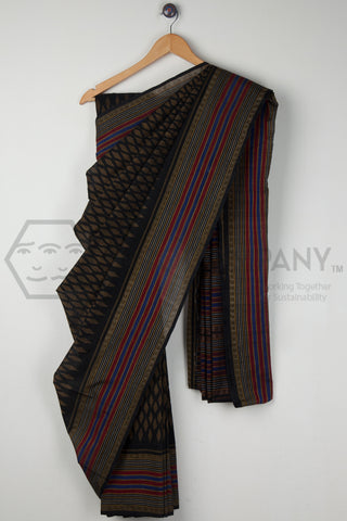 Black Beauty Tie and Dye Saree