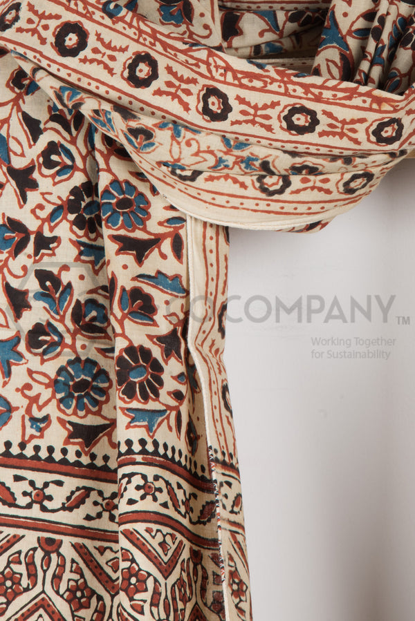 Ajrakh Print Stole on Hirda Base