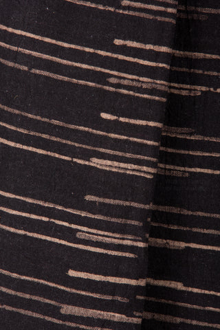Kala Cotton Black Hand Block Printed Stole