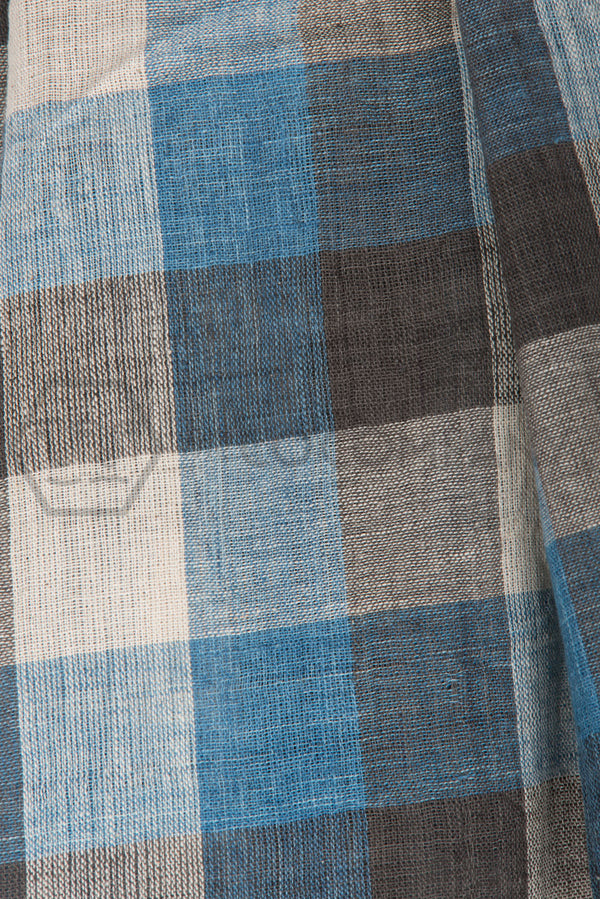 Checkered Kala Cotton Stole
