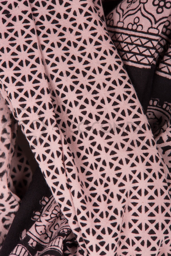 Bagh Print Black and Cream Stole