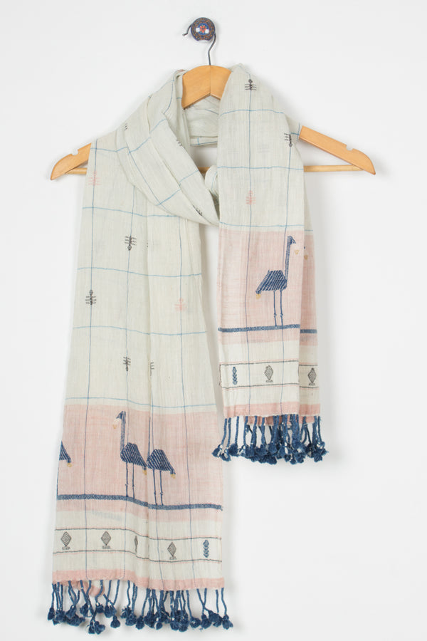 Flamingo Kala Cotton Stole