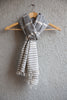 Light Grey Kala Cotton Stole with Grey Extra Weft