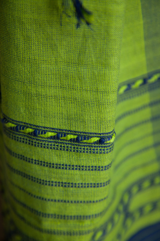 Blue Green Kutchhi Stole