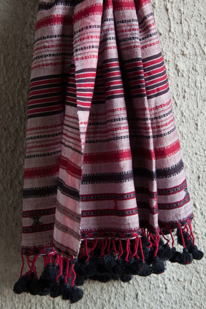 Pink Stole with Grey Hue