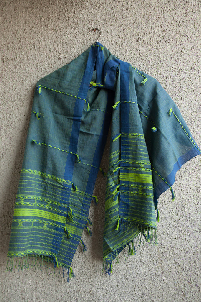 Green Blue Kutchhi Stole