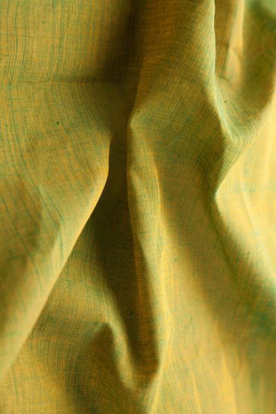 Green Yellow Dhoop Chaav Fabric (per meter)