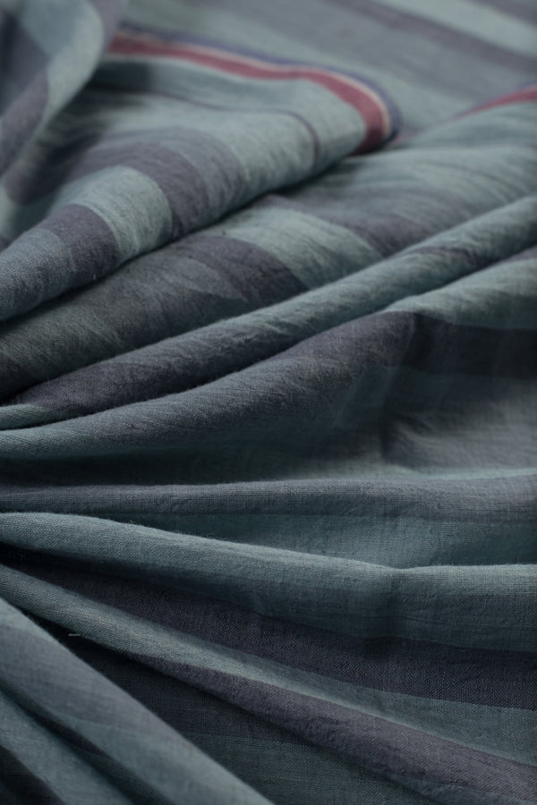Striped Cotton Khadi Fabric (per meter)