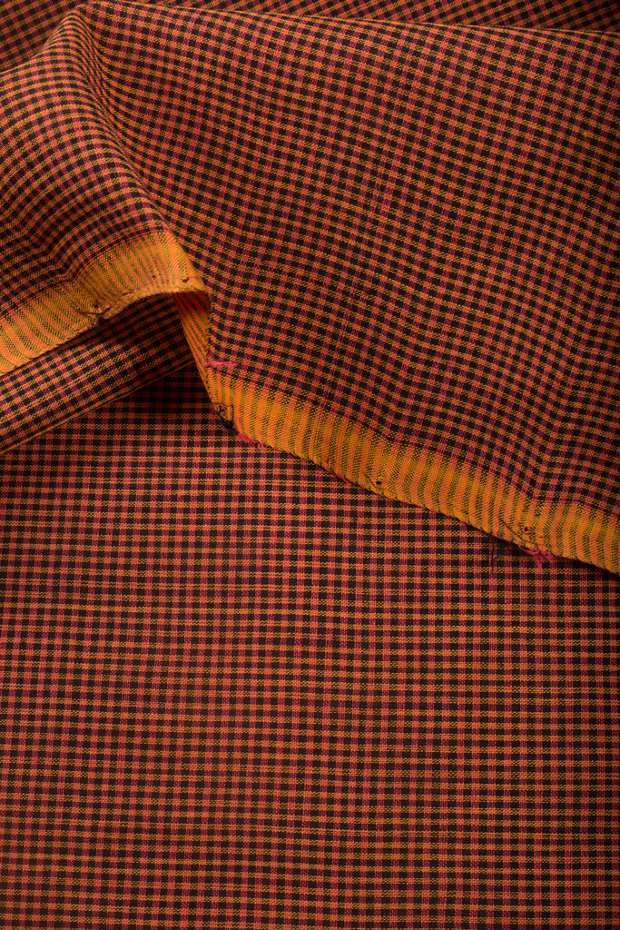 Small Checks Mangalgiri Fabric (per meter)