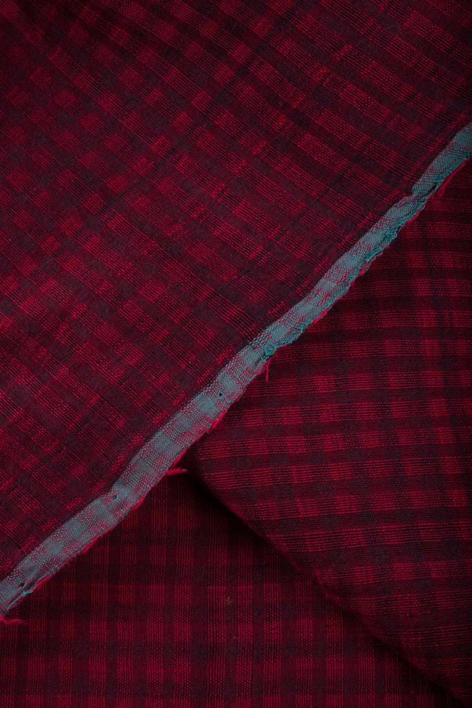 Checkered Mangalgiri Fabric (per meter)