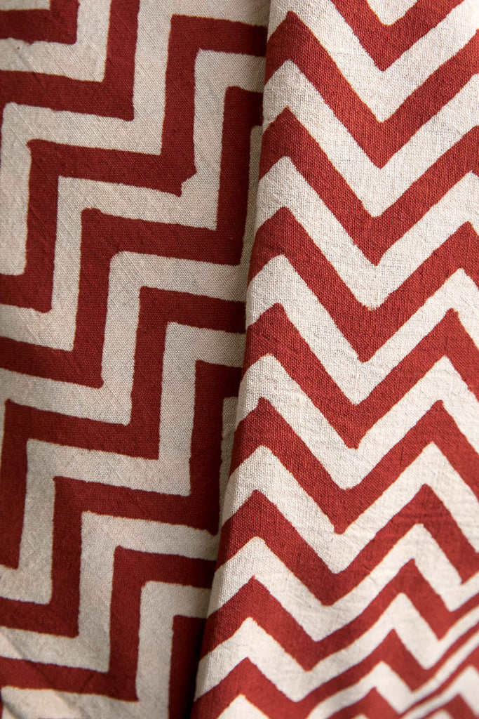 Maroon Wave fabric (per meter)