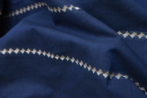 Ribbon on Blue Fabric (per meter)