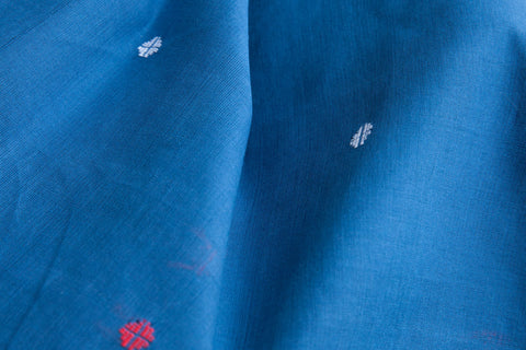 Flower Buta Blue Fabric (per meter)