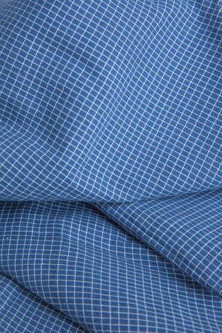 Blue Checkered Fabric (per meter)