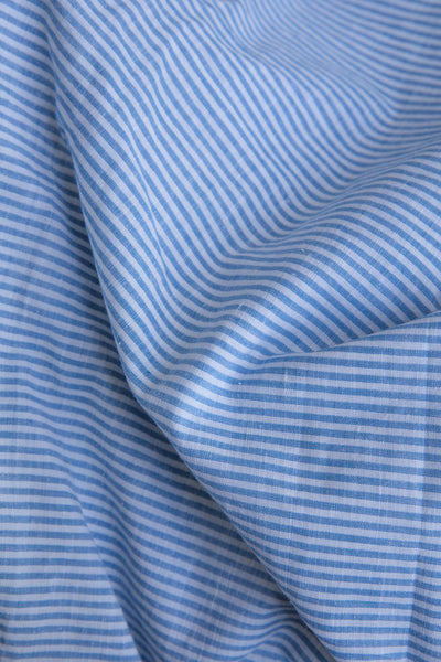 Blue and White Striped Fabric (per meter)