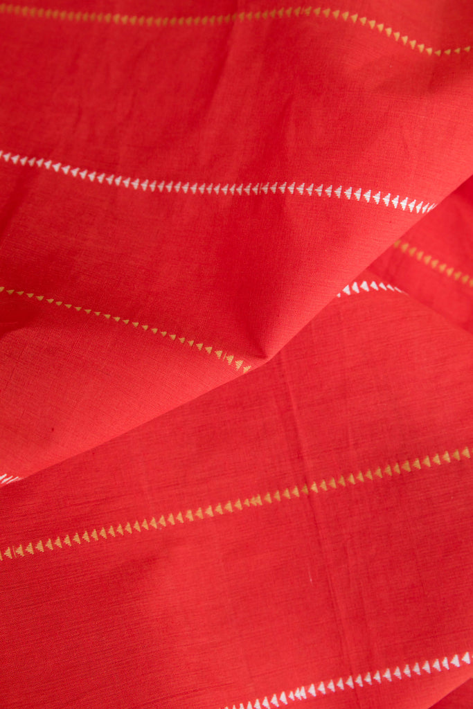 Red Fabric with Triangle (per meter)