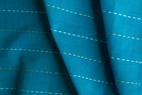 Blue Fabric with Broken Lines (per meter)
