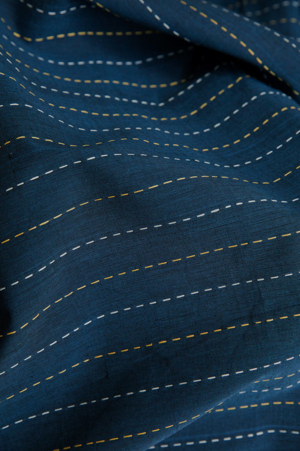 Blue Broken Lines Fabric (per meter)
