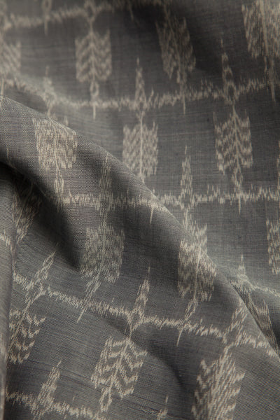 Grey Ikat Fabric (per meter)