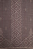 Grey Red Dhoop Chaav Ikat Fabric (per meter)
