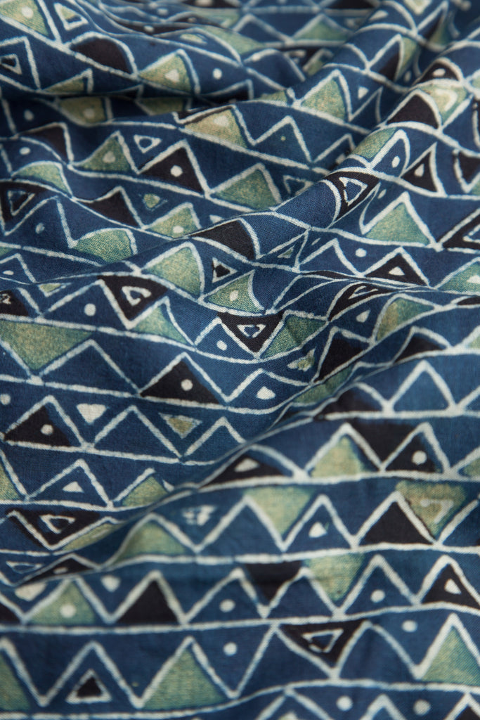 Blue Printed Fabric (per meter)