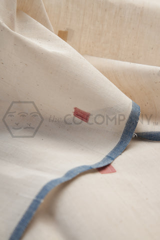 Square Jaamdani on Kora Khadi Fabric (per meter)