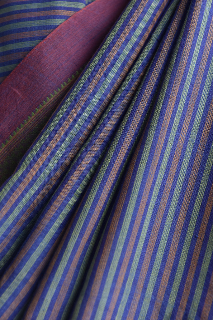 Stripe Ilkal Saree